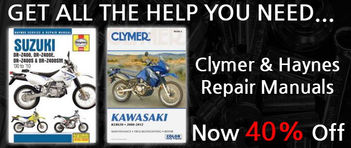 40% Off Clymer and Haynes Repair Manuals